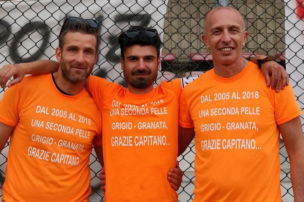 I tre capitani: Ghiringhelli, Ponzetto, Vicario.