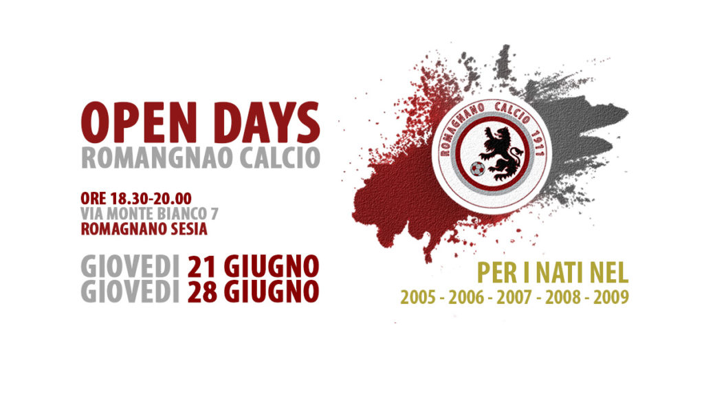 Open Days - maschile - 2018/2019 - Romagnano Calcio